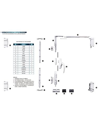 欧标节能双扇内平开下悬五金系统PKSX01